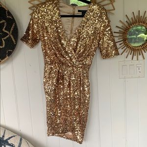 never worn sequin French connection dress
